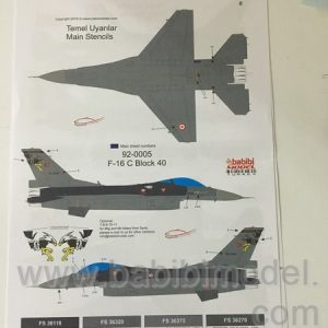 F-16 C and D new Tails 72&48