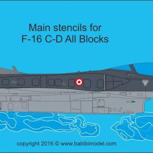 F-16 Main Stencils