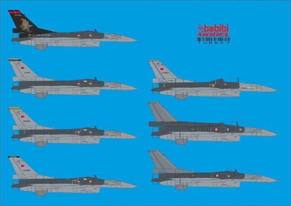 F-16 SoloTürk 2 nd &3 th Planes and Wolf SQ. Full Set