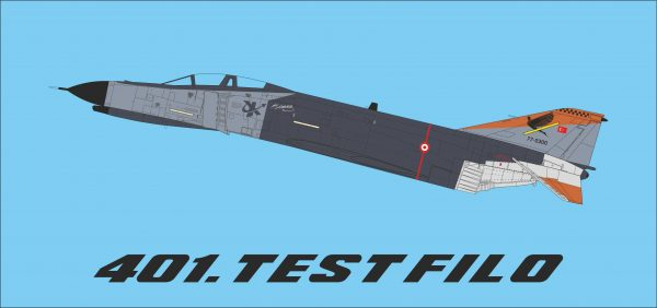401 Test Squadron Decal Set
